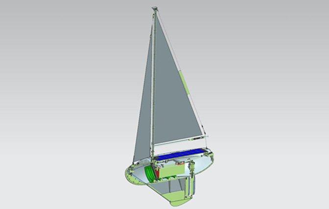 CAD Daten Bild eines Segelbootes