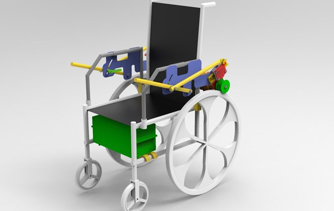 Representation of an electric wheelchair with eye-tracking software using CAD data